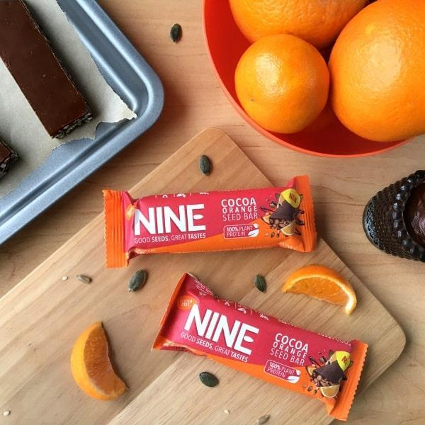 Win NINE Bar Cocoa Orange Bars